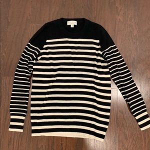 White + Warren Sz M black white stripe